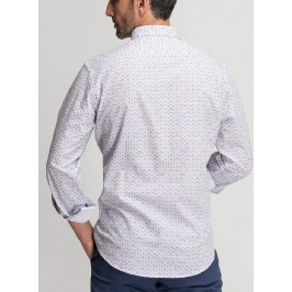 CAMISA ESTAMPADA SLIM FIT 100% ALGODÓN