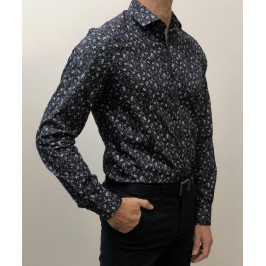 22CAMISA ESTAMPADA 100% ALGODÓN SLIM FIT