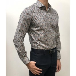 CAMISA ESTAMPADA 100% ALGODÓN SLIM FIT